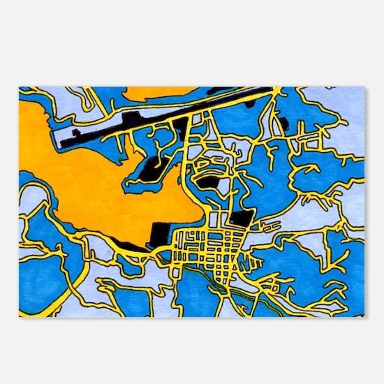 Castries City, Saint Postcards (package Of 8)