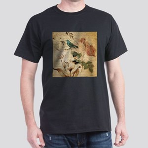 vintage rose bird paris french botanical a T-Shirt