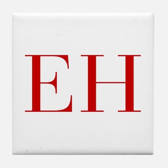 EH-bod red2 Tile Coaster