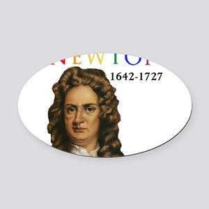 Sir Isaac Newton: Father of Modern Oval Car Magnet