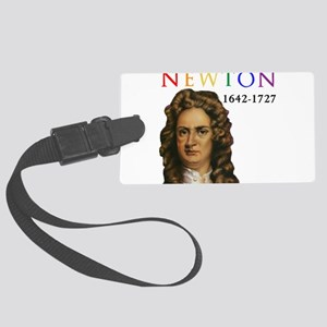 Sir Isaac Newton: Father of Mode Large Luggage Tag