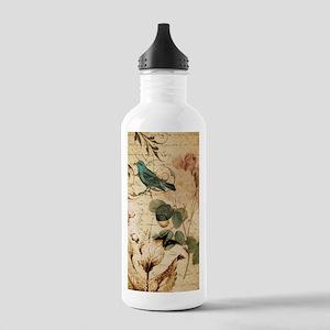 vintage rose bird pari Stainless Water Bottle 1.0L