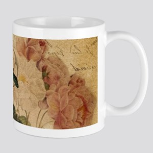 vintage rose bird paris french botanical art Mugs
