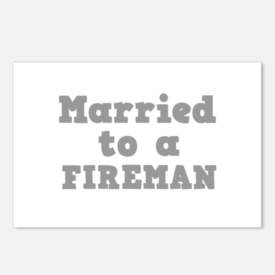 Married to a Fireman Postcards (Package of 8)