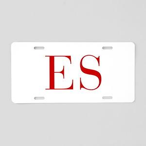 ES-bod red2 Aluminum License Plate