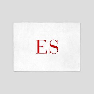 ES-bod red2 5'x7'Area Rug