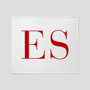 ES-bod red2 Throw Blanket