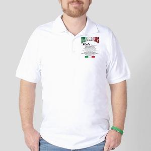Italians Rules Golf Shirt
