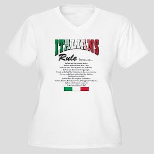 Italians Rules Women's Plus Size V-Neck T-Shirt