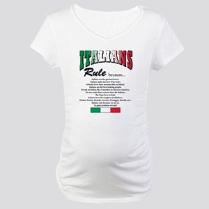Italians Rules Maternity T-Shirt