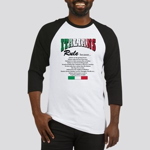 Italians Rules Baseball Jersey
