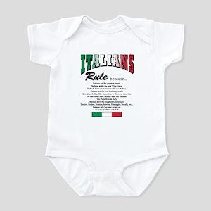Italians Rules Infant Bodysuit
