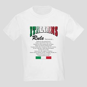Italians Rules Kids Light T-Shirt
