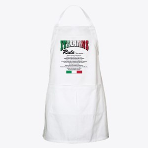 Italians Rules BBQ Apron