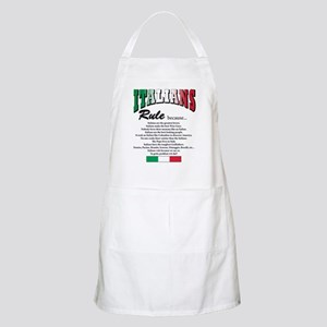 Italians Rules BBQ Apron