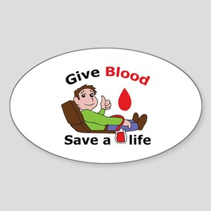 GIVE BLOOD SAVE LIFE Sticker