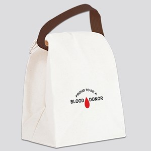 PROUD BLOOD DONOR Canvas Lunch Bag