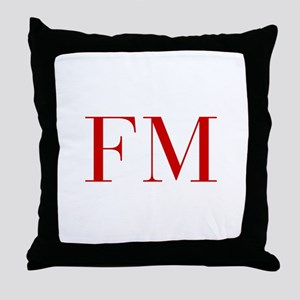 FM-bod red2 Throw Pillow