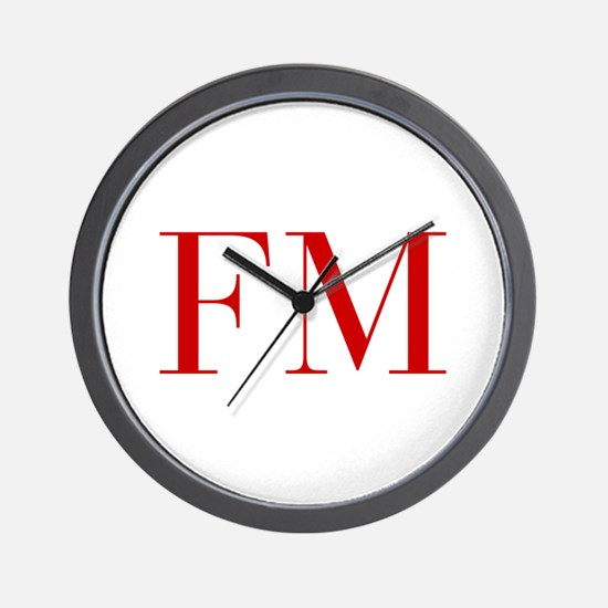 FM-bod red2 Wall Clock