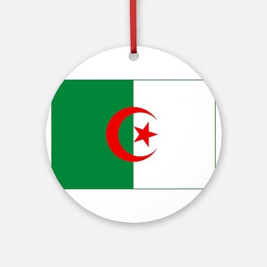 Algeria Flag Ornament (Round)