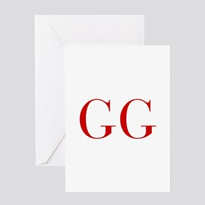 GG-bod red2 Greeting Cards