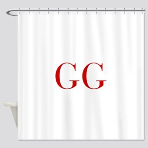 GG-bod red2 Shower Curtain