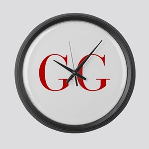 GG-bod red2 Large Wall Clock