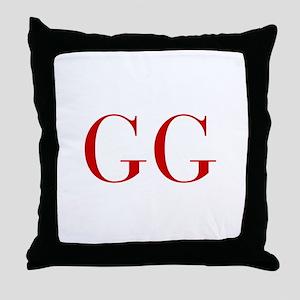 GG-bod red2 Throw Pillow