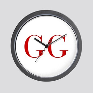 GG-bod red2 Wall Clock