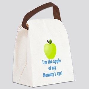 Apple of Mommys Eye Canvas Lunch Bag