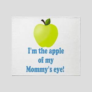 Apple of Mommys Eye Throw Blanket