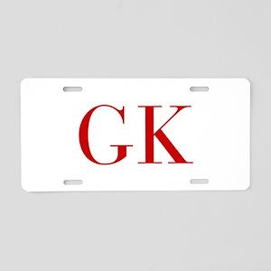 GK-bod red2 Aluminum License Plate
