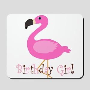 Birthday Girl Flamingo Mousepad