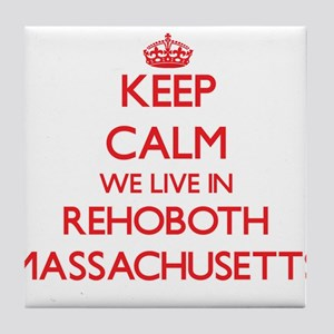 Keep calm we live in Rehoboth Massach Tile Coaster