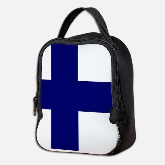 Finland flag Neoprene Lunch Bag