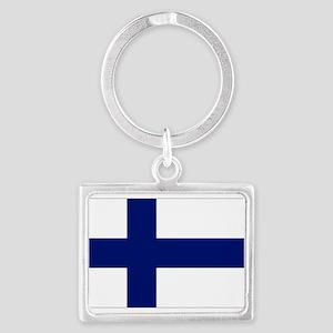 Finland flag Landscape Keychain