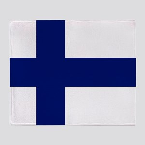 Finland flag Throw Blanket