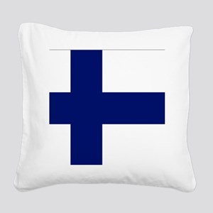 Finland flag Square Canvas Pillow