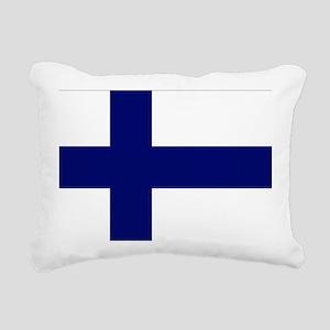 Finland flag Rectangular Canvas Pillow