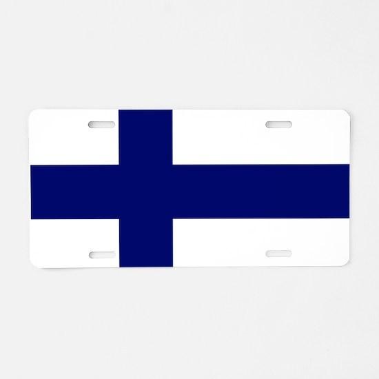 Finland flag Aluminum License Plate
