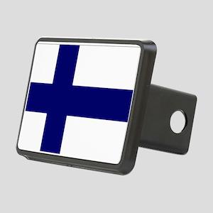Finland flag Rectangular Hitch Cover