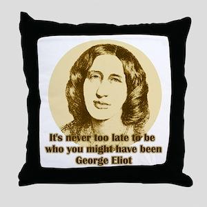 George Eliot Quote Throw Pillow
