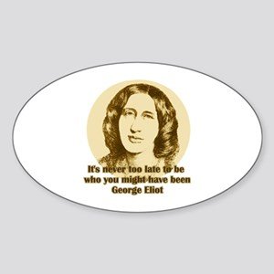 George Eliot Quote Oval Sticker