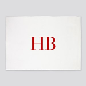 HB-bod red2 5'x7'Area Rug