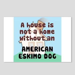 Eskimo Dog Home Postcards (Package of 8)