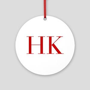 HK-bod red2 Ornament (Round)