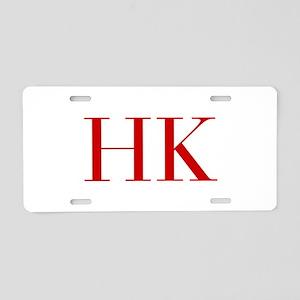 HK-bod red2 Aluminum License Plate