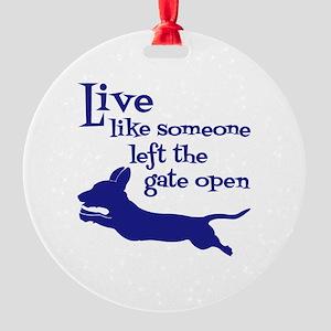 OPEN GATE! Round Ornament