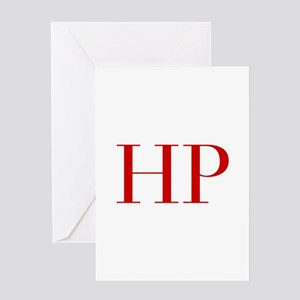 Hp initials stationery cafepress hp bod red2 greeting cards m4hsunfo