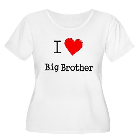 I heart big brother Women's Plus Size Scoop Neck T